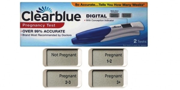 Clearblue Digital Weeks Indicator Pregnancy Test (2 Pack) £8.99 @ Amazon
