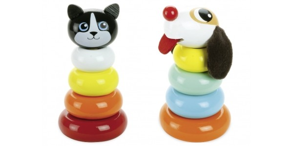 Cat or Dog Wooden Stacking Toy £5 (was £15) With FREE Delivery @ JoJo Maman Bebe