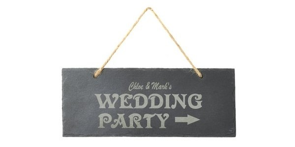 Personalised Wedding Slate Sign £3.99 @ Studio