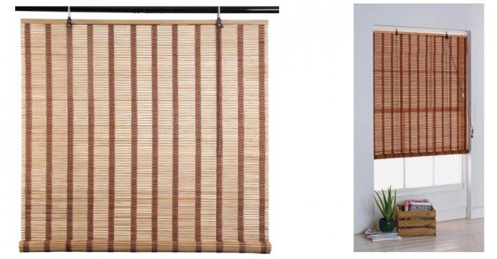 home eastern style bamboo roller blind 4ft was 9. Black Bedroom Furniture Sets. Home Design Ideas