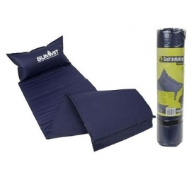 summit self inflating camping mat with built in pillow 5. Black Bedroom Furniture Sets. Home Design Ideas