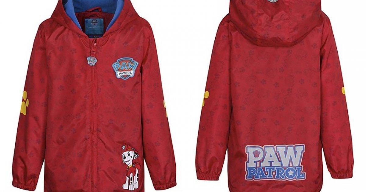 paw patrol shower resistant jacket from 10 asda george. Black Bedroom Furniture Sets. Home Design Ideas