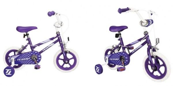 "Terrain Girls 12"" Bike Purple £20 (Was £45) @ Tesco Direct"