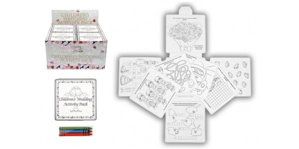 Children's Wedding Activity Pack x 4 £1.95 With Free Delivery @ Amazon
