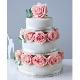 3 Tier Sponge Wedding Cake Just GBP54 Marks And Spencer