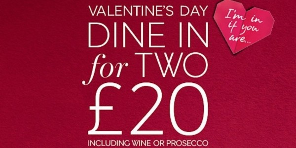Valentine's Day Dine In For Two £20 Including Prosecco & Chocolates At Marks & Spencer