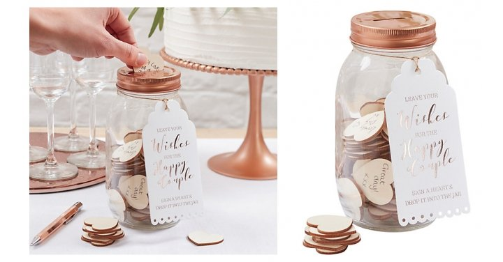 Wedding Gifts John Lewis: Ginger Ray Wedding Wishing Jar Guest Book £15 @ John Lewis