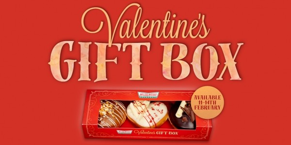 Valentine's Day Heart Shaped Krispy Kreme Limited Edition Gift Box £6 or 2 for £10