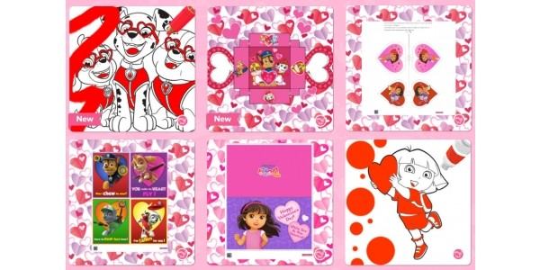 FREE Paw Patrol Valentines Day Printables @ Nick Jr