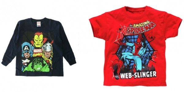 Spider-Man And Avengers T-Shirt 2 Pack £4.99 @ Argos