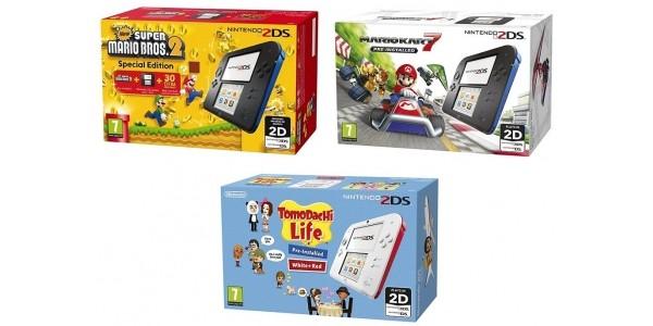 Nintendo 2 DS + Mario Kart 7 or Super Mario Bros 2 or Tomodachi Life £75.99 @ Tesco Direct