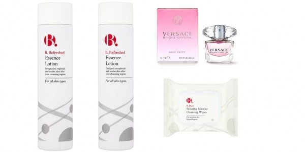 Offer Stack: 2 B.Essence Lotion, FREE Versace Mini & TWO Packs Of Micellar Wipes £5.52 Delivered @ Superdrug