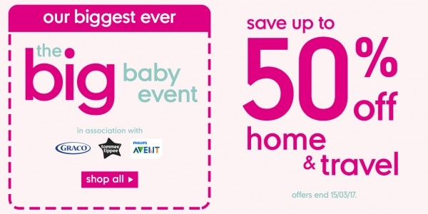 Mothercare Big Baby Event Now On