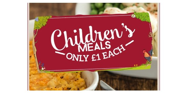 Kids Eat For £1 This Half Term @ Toby Carvery