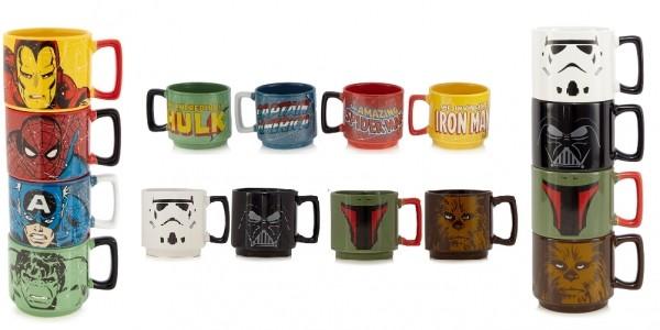 Marvel/Star Wars Multi-Coloured Stacking Mug Set £6 (Was £20) @ Debenhams (Expired)