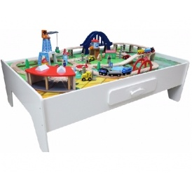 sc 1 st  Playpennies & George Home Wooden Train Set And Table £50 @ Asda George