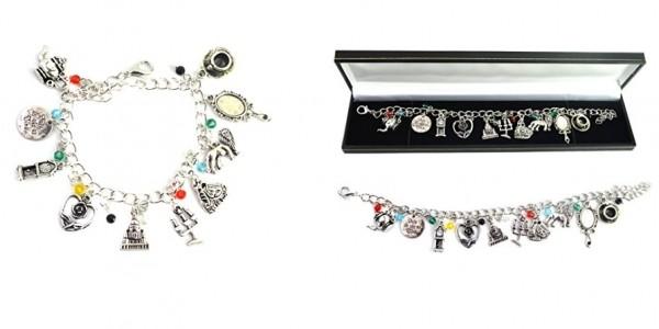 Beauty And The Beast Charm Bracelet £17.29 @ Amazon