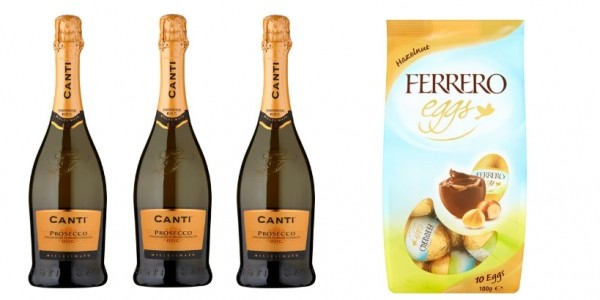 Offer Stack:10 Bottles Of Prosecco & Bag Of Ferrero Rocher Eggs £52 @ Sainsbury's