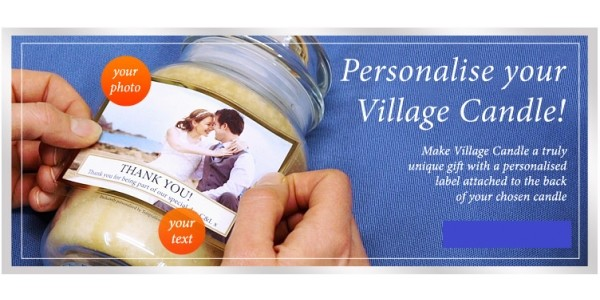 Mother's Day: Personalise Your Village Candle For Just £3.95 @ Temptation Gifts