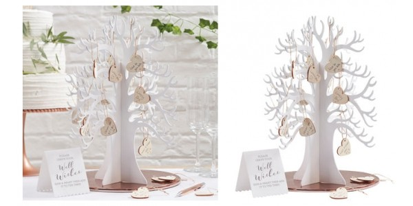 Ginger Ray Wooden Wishing Tree Guest Book Alternative £17.99 @ Not On The High Street