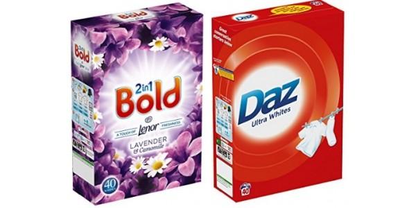 FOUR 2.6kg Boxes Of Bold/Daz Washing Powder £8.33/£8 @ Amazon (Expired)