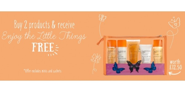 FREE Gift Worth £12.50 When You Buy 2 Sanctuary Products @ Boots