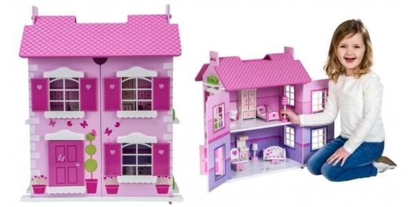 Olivia's Wooden Doll House & Furniture £29.99 With Free Delivery @ Smyths Toys