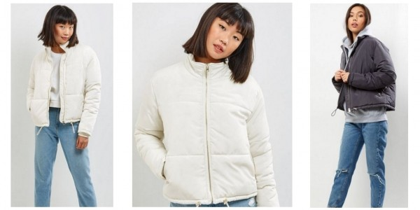 Cream Padded Puffer Jacket £10 (Was £44.99) @ New Look