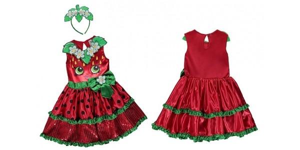 Shopkins Strawberry Kiss Fancy Dress Costume £14 @ Asda George