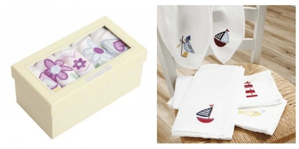 Half Price 5 Pack Floral or Nautical Muslins £7 Delivered @ JoJo Maman Bebe