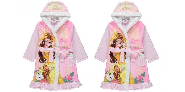 Disney Princess Belle Dressing Gown With Soft Toy From £10 @ Asda George