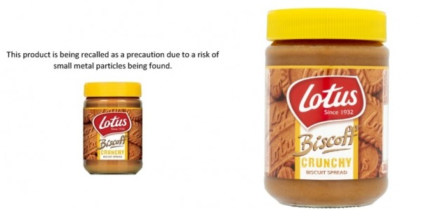 Urgent Recall On Lotus Biscoff Crunchy Biscuit Spread (380g)