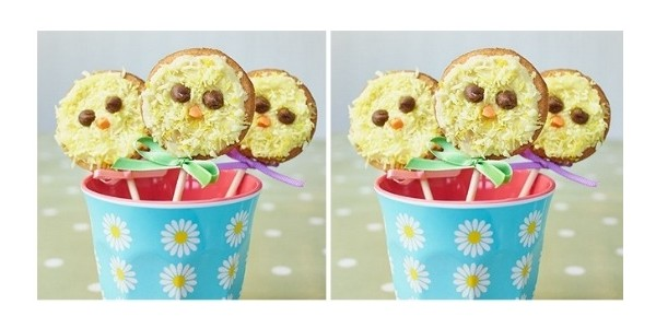 Easter Chick Biscuit Pop Recipe @ BBC Good Food