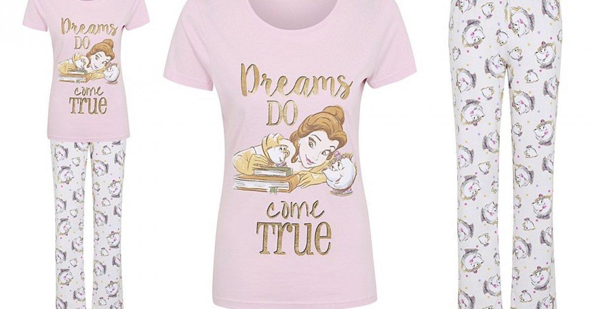 New Women S Beauty And The Beast Pyjamas 163 14 Asda George