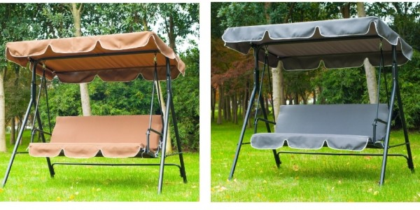 Three Seater Garden Swing Bench £51.99 (+£8.99 Delivery) @ Amazon Seller: MHSTAR