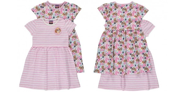 Paw Patrol 2 Pack Skye Jersey Dresses From £8 @ Asda George