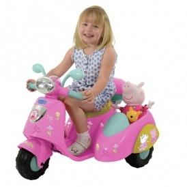 Peppa Pig 6V Ride On Bike with Side Car