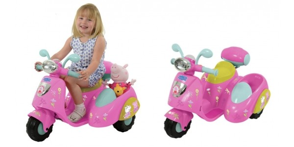 £60 Off Peppa Pig 6V Ride On Bike with Side Car @ Argos