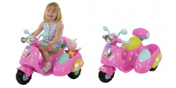 gbp-60-off-peppa-pig-6v-ride-on-bike-with-side-car-argos-171330