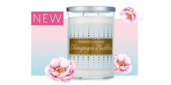 New Yankee Candle Champagne Bubbles Large Tumbler Now £14.99 (RRP £23.99) @ Clintons