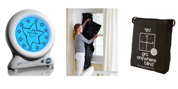 The Gro Company Gro-Clock Sleep Trainer/Gro Anywhere Blackout Blind £15.99/£17.49 @ Amazon