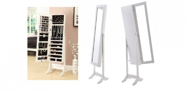 Jewellery/Beauty Storage Freestanding Mirror £44.90 Delivered @ eBay: Man Trading