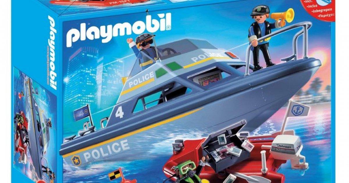 Playmobil Police Boat Playset 163 12 49 Was 163 24 99 Argos