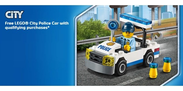FREE Lego Police Car With ALL Lego City Purchases @ The Lego Shop