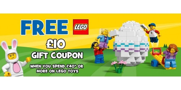 FREE £10 Lego Gift Coupon When You Spend £40 On Lego @ Toys R Us