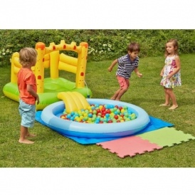 Chad valley castle bouncer ball pit and pool argos for Garden pool argos