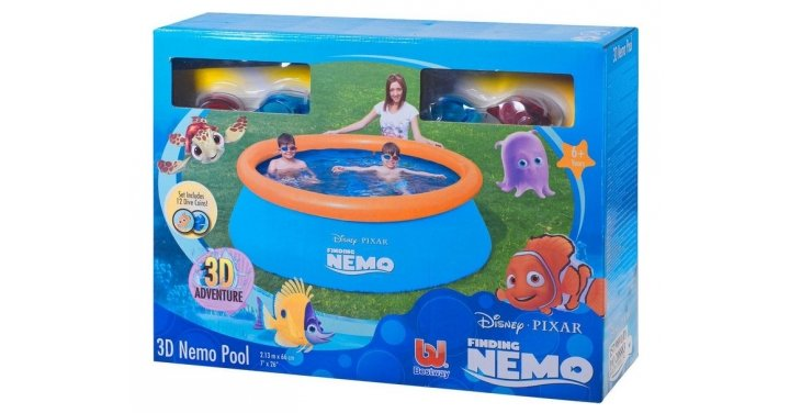 Disney finding nemo 3d paddling pool was for Garden pool argos