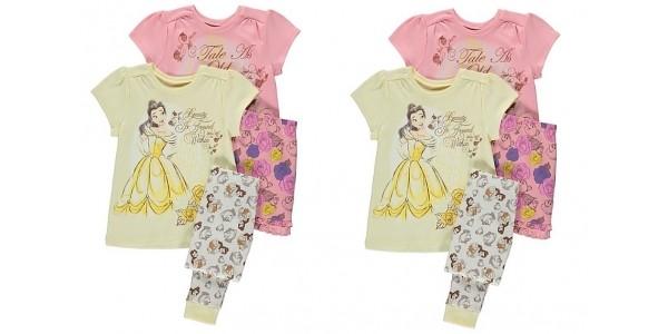 Disney Princess Belle 2 Pack Pyjamas £10.50 @ Asda George