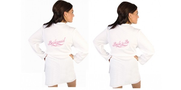 Bride To Be & Bridesmaid Waffle Robes £9.99 @ Home Bargains