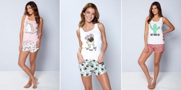 Unicorn / Pug Shortie Nightwear £3.99 @ Studio